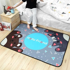 Baby Game Pad Anti-Slip Cartoon Style Acrylic Area Rug