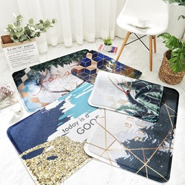 Modern Style PVC Rectangle Waterproof Machine Made Area Rug