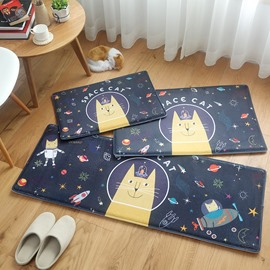 Cartoon Style Bathroom Anti-Slip Water Absorption Area Rug