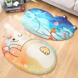 Cartoon Style Animal Shape Water Absorption Anti-Slip Area Rug