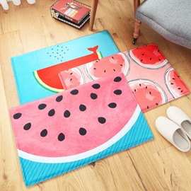 Watermelon Pattern Machine Made Water Absorption Area Rug