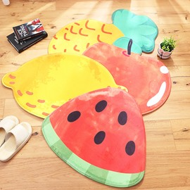 Fruit Shape Polyester Machine Made Water Absorption Area Rug