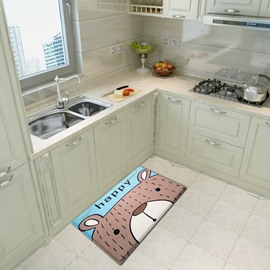 Water Absorption Cartoon Style Bedroom Kitchen Area Rug