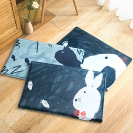 Flannel Anti-Slip Cartoon Style Living Room Area Rug