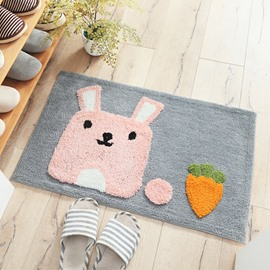Cartoon Style Polyester Machine Made Rectangle Area Rug