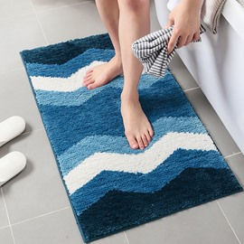 Stripe Polyester Rectangle Modern Style Area Rug