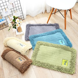 Chenille Simple Style Rectangle Living Room Machine Made Area Rug