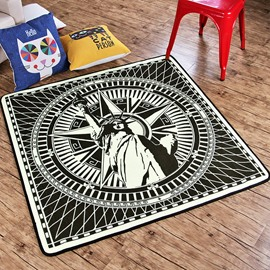 Statue Of Liberty American Style Polyester Rectangle Area Rug