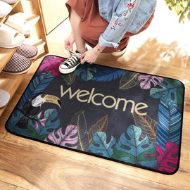 Ins Style Hallway Nylon Rectangle Water Absorption Anti-Slip Area Rug