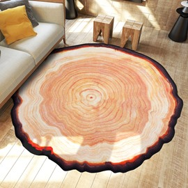 Round Polyester Machine Made Water Absorption Wearproof Area Rug