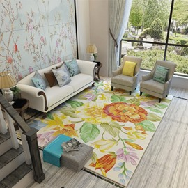 120*160cm Nordic Style Polyester Rectangle Waterproof Area Rug