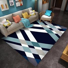 Geometric Pattern 80*150cm Polyester Rectangle Anti-Slip Area Rug