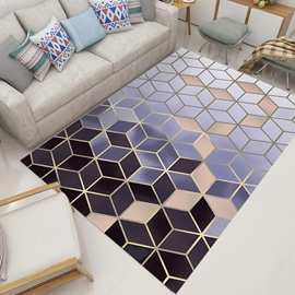 Simple Style 80*150cm Geometric Graphic Anti-Slip Machine Made Area Rug