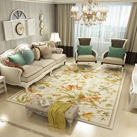 Modern Style Floral Pattern 120*160cm Rectangle Polyester Area Rug
