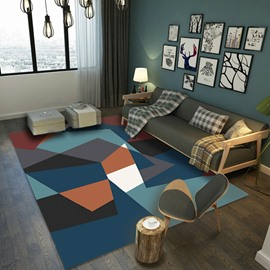 Geometric Graphic 80*150cm Anti-Slip Polyester Rectangle Bedroom Area Rug