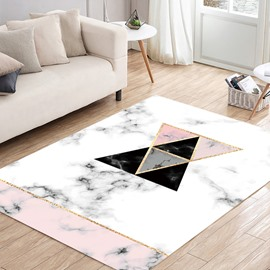 80*160cm Simple Style Anti-Slip Polyester Abstract Graphic Area Rug