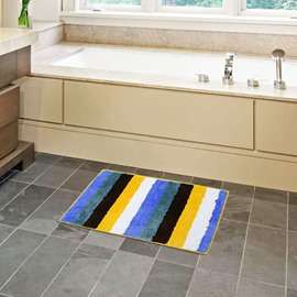 Stripe Machine Made Rectangle Hand Wash Area Rug