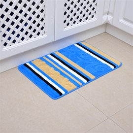 Stripe Pattern Rectangle Modern Style Machine Made Area Rug