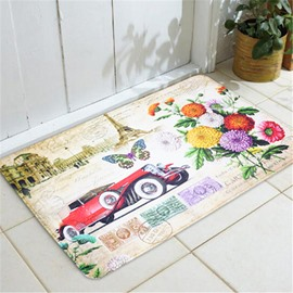 European Style Printed Anti-Slip Rectangle Area Rug