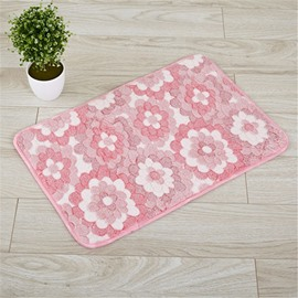Pastoral Style Rectangle Polyester Thicken Area Rug