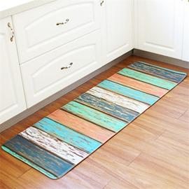 Colour Stripe Non-slip Runner Mat For Bedroom Bathroom Kitchen Floor Decor 1.8*5.2ft