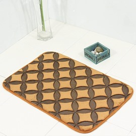 Modern Style Polyester Waterproof Rectangle Area Rug