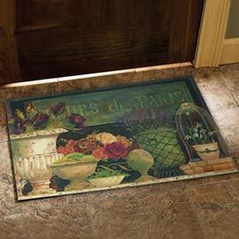 European Country Style Flower Vase Prints Doormat