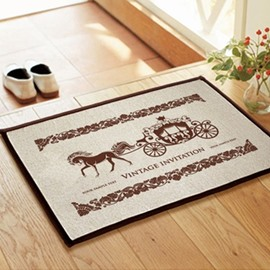 Elegant European Style Carriage Non-slip Doormat