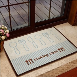 Simple Knife and Fork Pattern Non-slip Doormat
