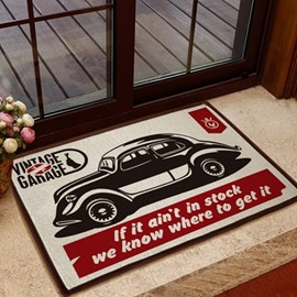 European Style Glamorous Car Pattern Non-slip Doormat