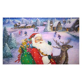 Gorgeous Santa Claus Carrying Gifts in the Snow Pattern Non-slip Doormat