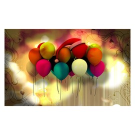 Gorgeous Colorful Balloons Pattern Non-slip Doormat