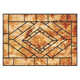 European Style Retro Beautiful Pattern Non-slip Doormat