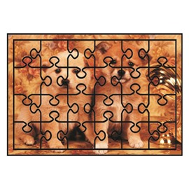 Super Cute Dogs Pattern Non-slip Flocking Doormat
