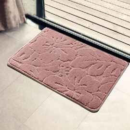 Elegant Floral Patterns Pure Color Non-slip Suede Doormat
