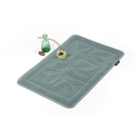 Elegant Patterns Green Non-slip Suede Doormat
