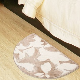 Modern Style Pretty Patterns Semi-circle Non-slip Suede Mat