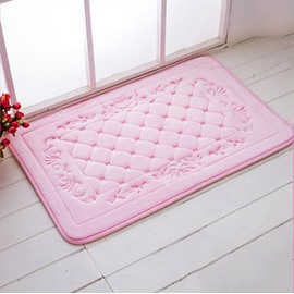 High Quality Coral Fleece 3D Grid Doormat