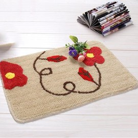 Classic Fibers Coffee Safflower Non-Slip Doormat