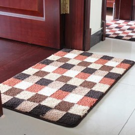 Top Quality Classic Grid Rectangular Doormat