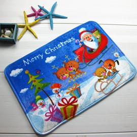 Festival Merry Christmas Theme Joyous Anti-Slipping Doormat