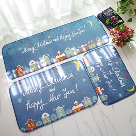 Merry Christmas and Happy New Year Three Pieces Decorative Doormat
