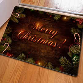 Unique Design Merry Christmas Decorative Felt Non Slip Doormat