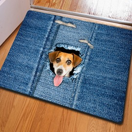 Vivid Simple Style Cute Dog Pattern Home Decorative Non Slip Doormat