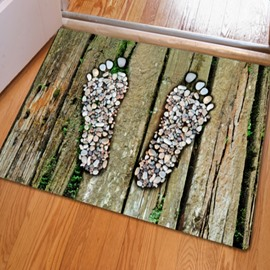 Modern Fashion Design Footprints Pattern Non Slip Home Decorative Doormat