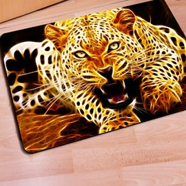 Special Design Rectangle Leopard Print Non Slip Entrance Doormat