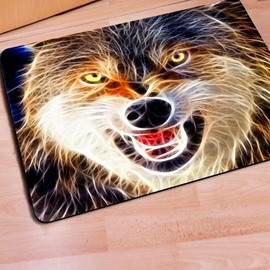 Durable Rectangle Wolf Print Outdoor Indoor Entrance Non Slip Doormat