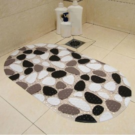 Unique Cobblestone Pattern PVC Skidproof Bath Rug