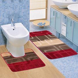 Super Cozy Contemporary 2-piece Suede Bath Rug
