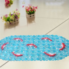 Unique Pretty Red Dolphin Print Bath Mats